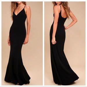 Lulus black infinite glory dress